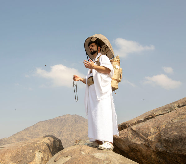 Hajj Backpack and Sun shade for Hajj in Mount Arafah in Makkah, Saudi Arabia for Hajj and Umrah - FEJ Gear