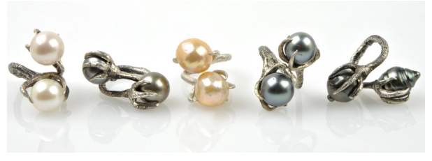 Designer Spotlight: Paul Joseph's Talon Pearl Rings
