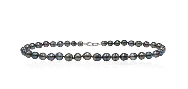 Deep Circles Tahitian pearl necklace