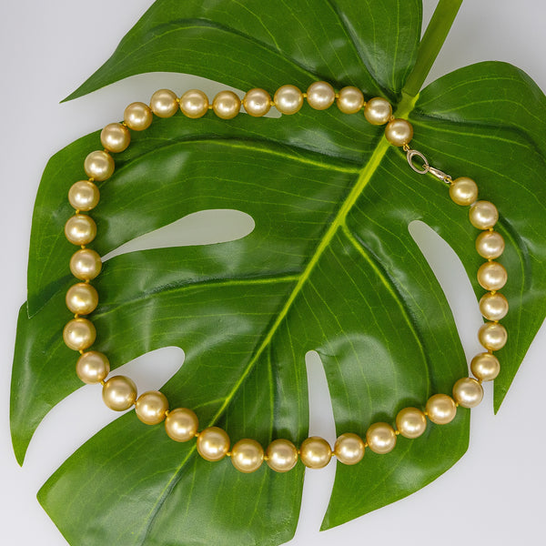 Forget Me Not Golden South Sea pearl necklace