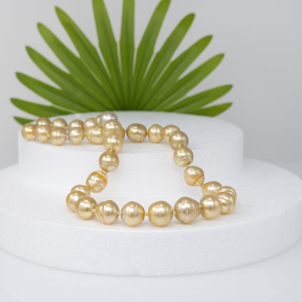 Glorious Sunrise Baroque Golden South Sea pearl necklace