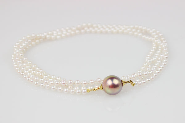 SHINING ROPE WITH LAVENDER PEARL