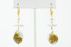 golden fresh water and south sea keshi pearl earrings