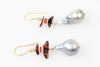 AMBER AND TAHITIAN PEARL DROP EARRINGS