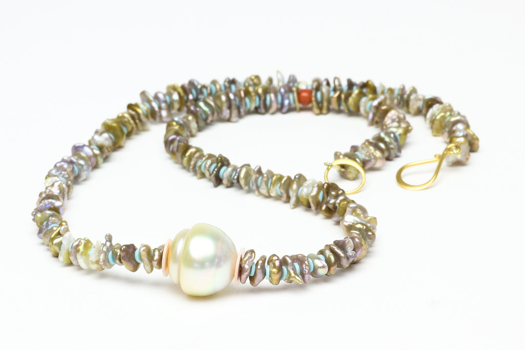keshi pearl dreamscape necklace