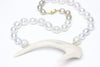 south sea pearl and antler statement necklace