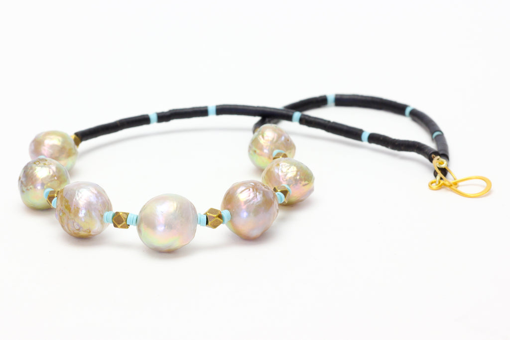 the trumpets call baroque pearl necklace
