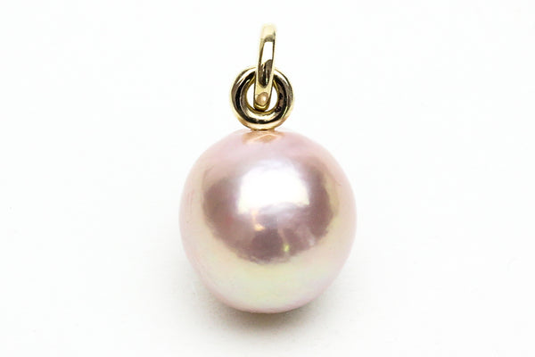 near round pink chinese freshwater pearl pendant