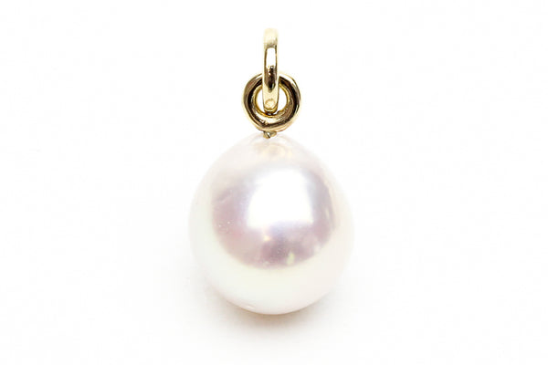 hint of pink teardrop chinese freshwater pearl pendant