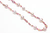 pink tourmaline and chinese freshwater pearl necklace