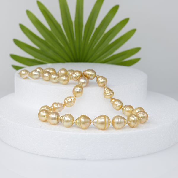 Glorious Sunrise Baroque Golden South Sea pearl necklace-2