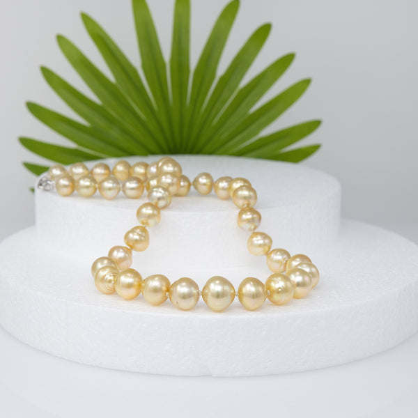 Watching Sunset Golden South Sea pearl necklace