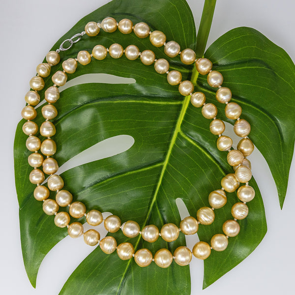 Sunshine Everywhere You Go! Golden South Sea pearl necklace rope