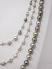 rope of silver fancy color Tahitian pearls