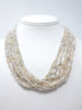 Akoya keshi pearl torsade necklace with fantastic vintage clasp