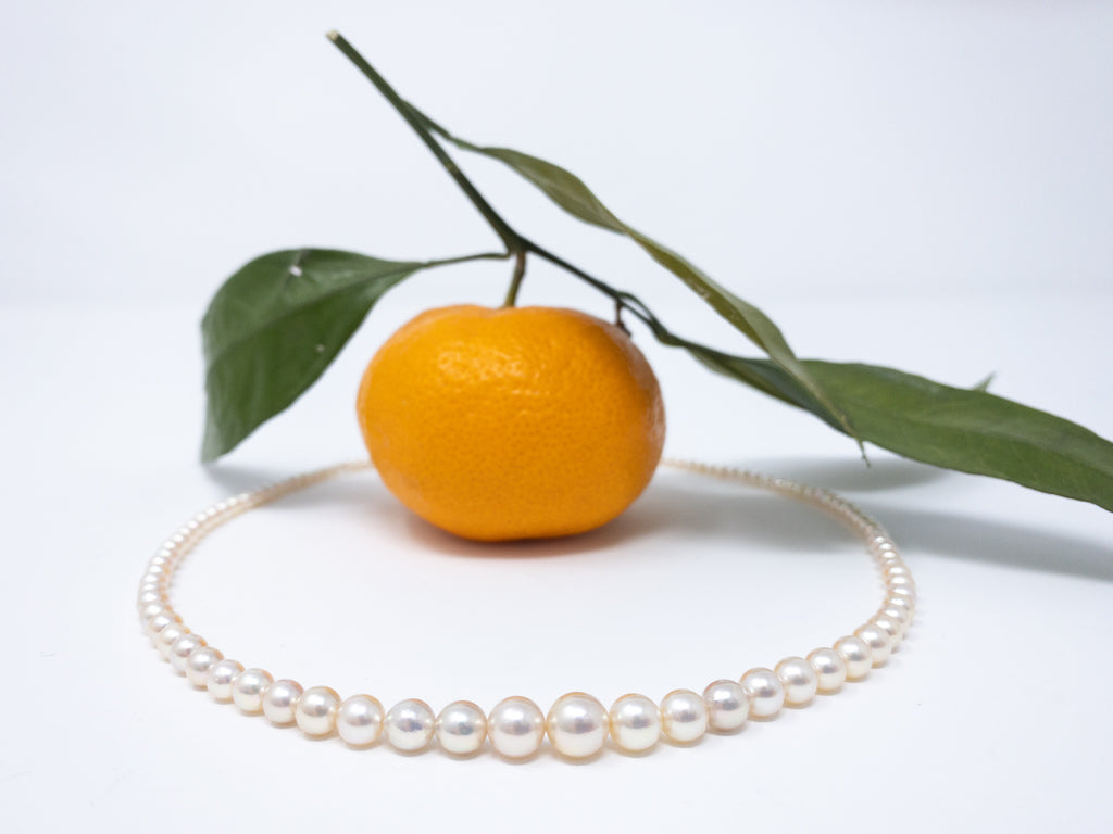 Princess Graduated Japanese Akoya Necklace