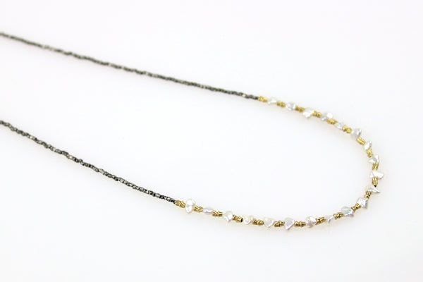 akoya keshi collar necklace