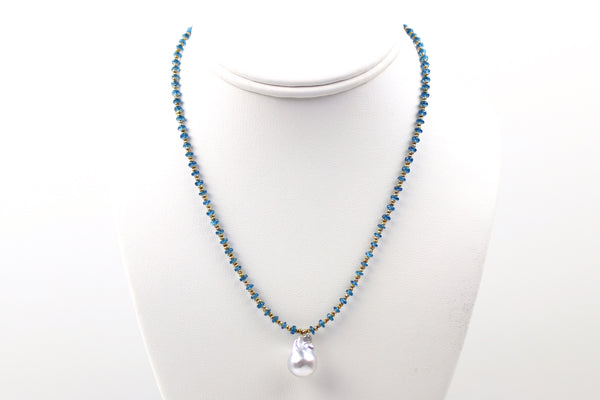 appetite and blue south sea pendant necklace