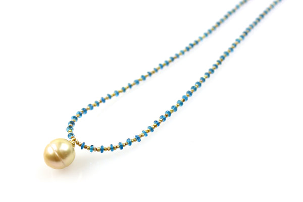 appetite and golden south sea pendant necklace