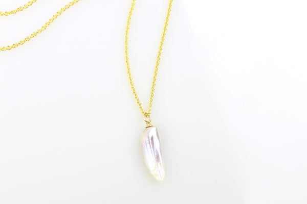 flights of pastel chinese freshwater pearl pendant necklace