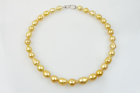 brilliant sunrise south sea pearl necklace