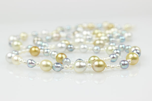 power of one south sea pearl rope necklace