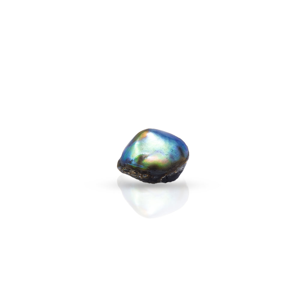 High Button natural wild found abalone pearl