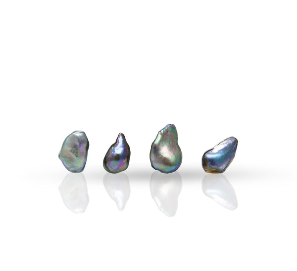 4 pearls lof of Gem quality natural wild found abalone pearl