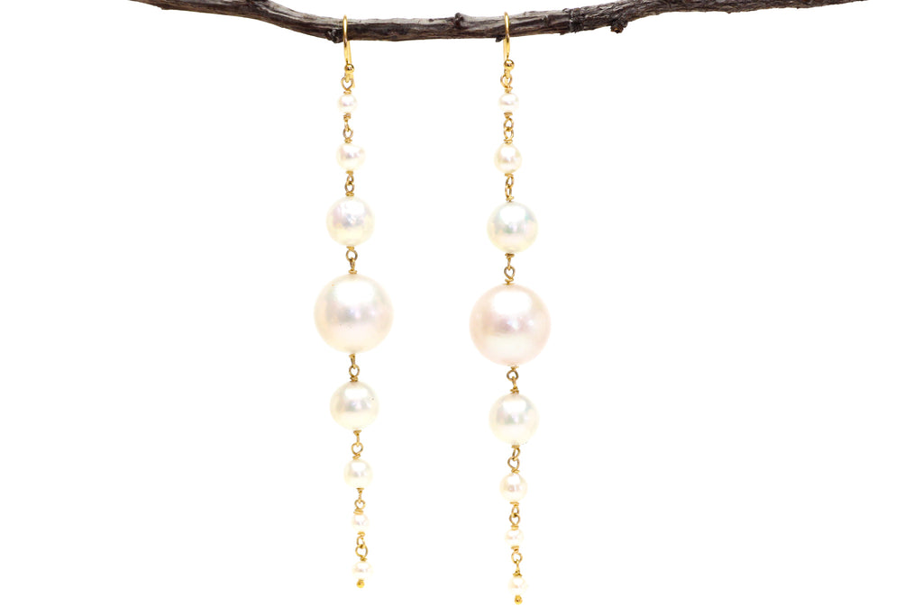 happier and golden pearl earrings