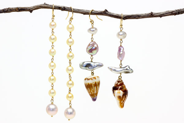 dress for the life you want seashell earrings