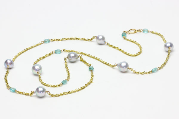 cool water Japan Akoya and apatite chain