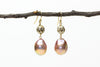 peachy pink lantern earrings