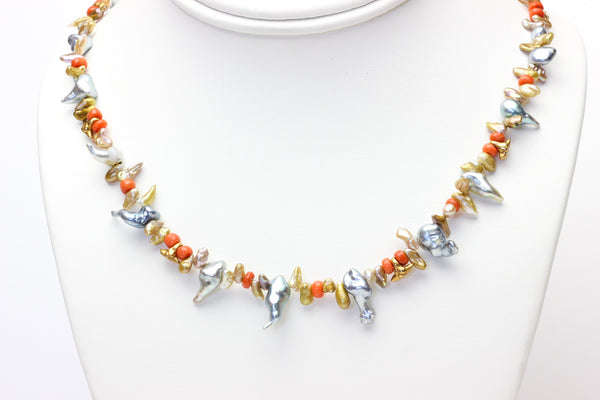 wild and regal keshi pearl necklace