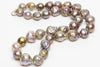 deeply rippled Japan Kasumi pearl necklace