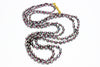 tiny Tahitian keshi pearl rope necklace