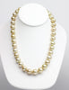 golden south sea round pearl regal necklace