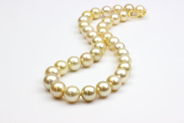 golden south sea round pearl magical necklace