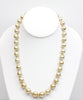 drop and baroque golden south sea glorious sunrise pearl necklace