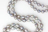 baroque chinese freshwater silver rope necklace