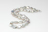 stunning silver keshi pearl necklace
