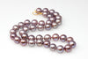 zoom worthy purple pearl necklace