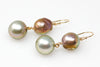 brilliant Japan Kasumi and shadow Tahitian pearl earrings