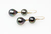 two-tier tiny Tahitian pearl earrings