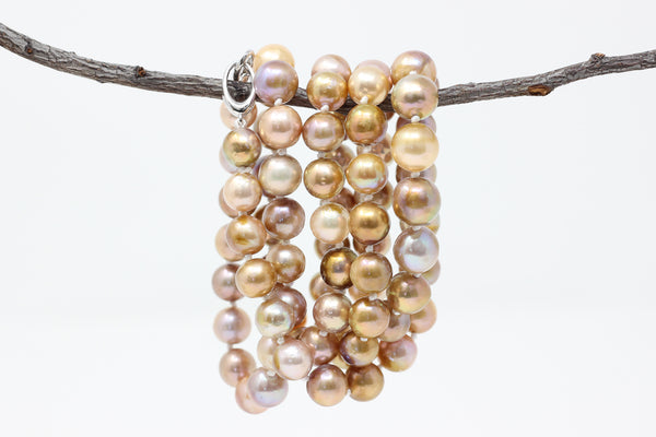 rope of golden pondslime fresh water pearls