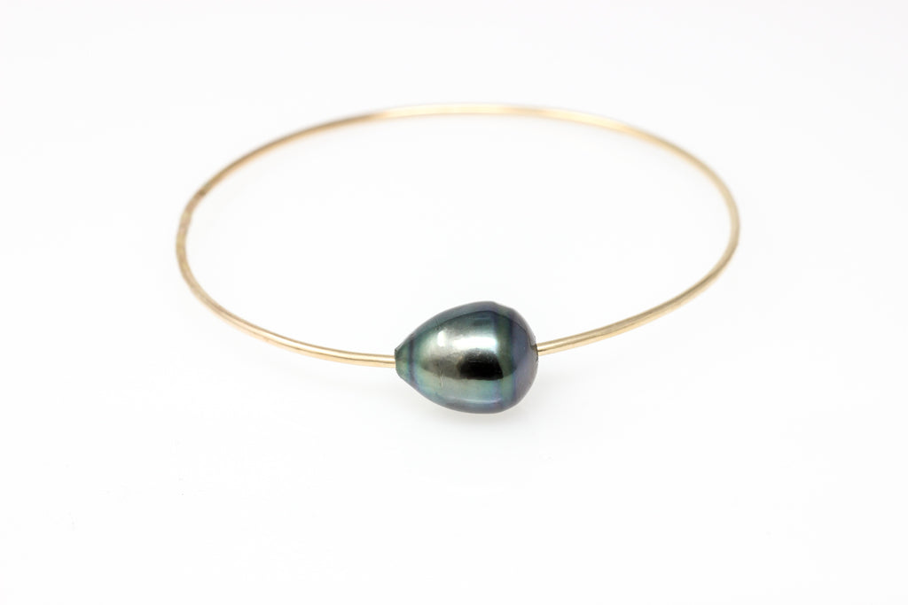 Tahitian pearl bangle bracelet #3