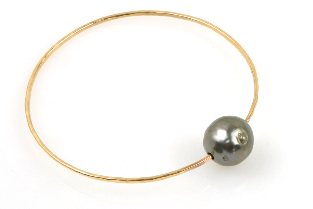huge tahitian pearl bangle