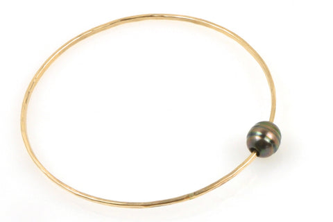 banded tahitian pearl bangle