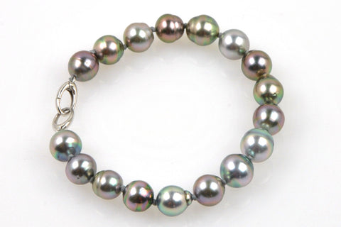 bright banded tahitian pearl bracelet