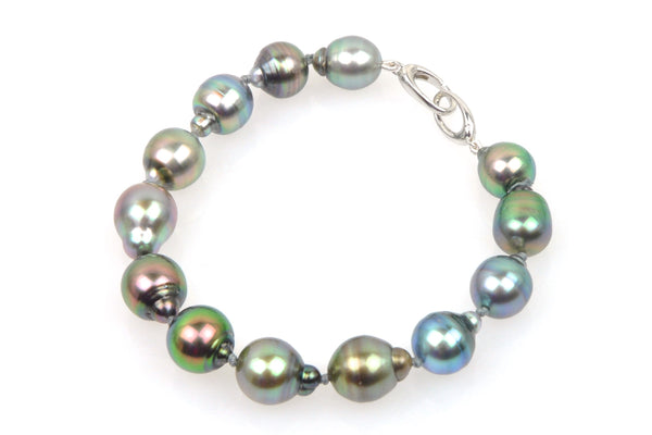 cloud drop tahitian pearl bracelet