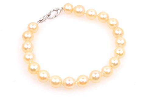 vintage soft golden japan akoya pearl bracelet